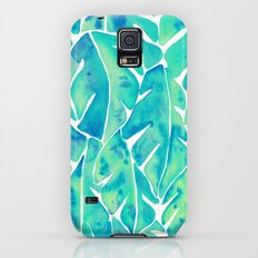 Split Leaf Philodendron – Turquoise Galaxy S5 Slim Case