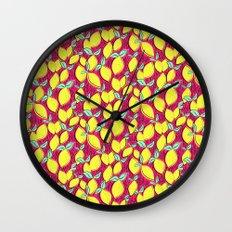 Lemon and pink Wall Clock