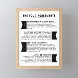 The Four Agreements by don Miguel Ruiz Framed Mini Art Print