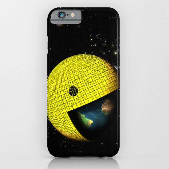 Pacman Eating the World iPhone & iPod Case