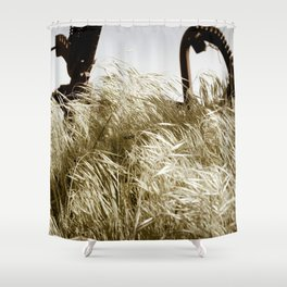 Tall Grass in the Wind Shower Curtain