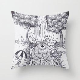 Bunny Falls Throw Pillow