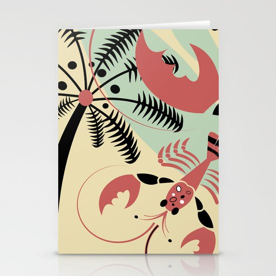 Lobster Rhumba Stationery Cards