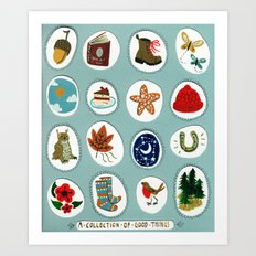 A collection of good things Art Print