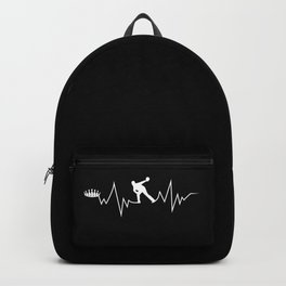 Bowling Heartbeat Gift for Bowlers Backpack