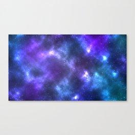 Blue Galaxy Canvas Print