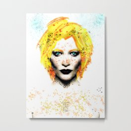 Freckle Face Girl Metal Print