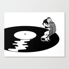 Don't Just Listen, Feel It Canvas Print