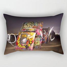 Cadillac Ranch Rectangular Pillow