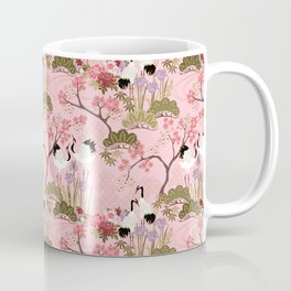 Japanese Garden in Pink Coffee Mug