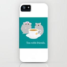 Tea with Friends: Mice iPhone Case