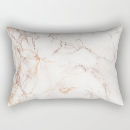gold and brown marble Rectangular Pillow
