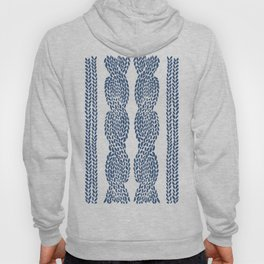 Cable Row Navy 1 Hoody