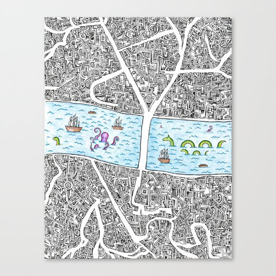 Boroughs Canvas Print