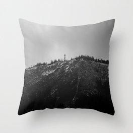Black Butte Throw Pillow
