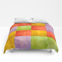 Colored Tiles Comforters