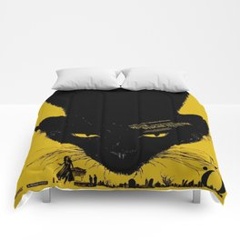 Vintage poster - Black Cat Comforters