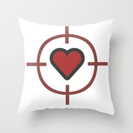 Heart Sniper Cute Valentines Day Lover Gift Idea Design Throw Pillow