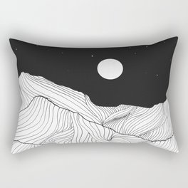 Lines in the mountains II Rectangular Pillow
