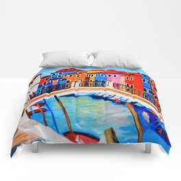 Colors of Venice Italy Comforters