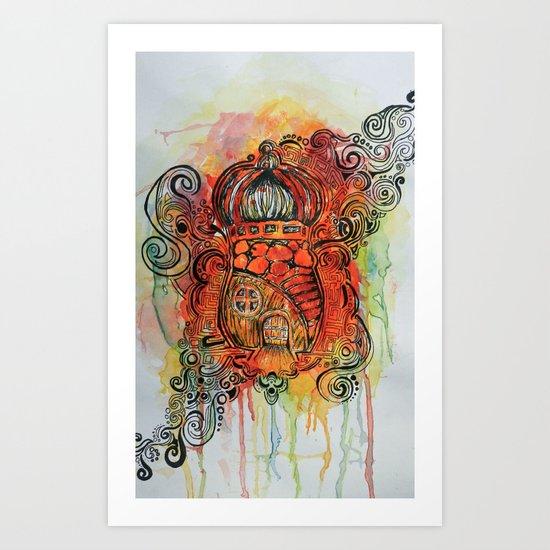 Original Suburbia  Art Print