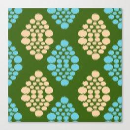 green ikat Canvas Print