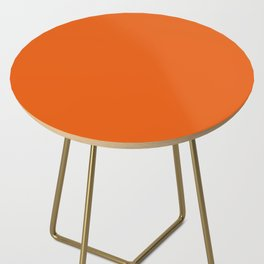 Orange Soda Solid Summer Party Color Side Table