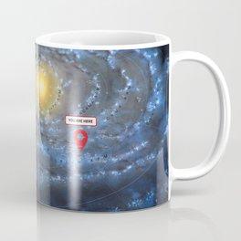 You are here: Milky Way map, Earth Coffee Mug