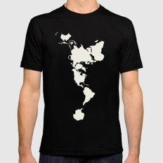 Dymaxion Map Mens Fitted Tee Black LARGE