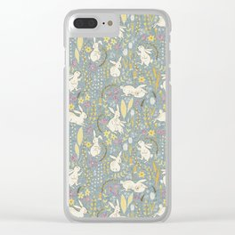 Spring Bunnies Clear iPhone Case