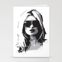 kate moss Stationery Cards featuring Kate Moss by Joanna Theresa Heart