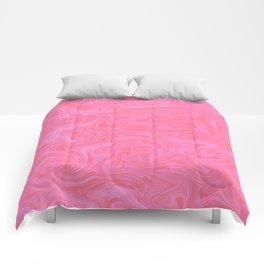 Pink Liquid Marble Comforters