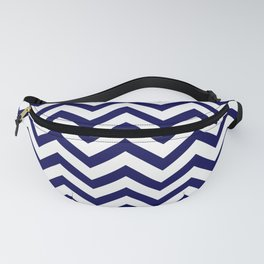 Simple Chevron Pattern - Blue & White - Mix & Match with Simplicity of life Fanny Pack