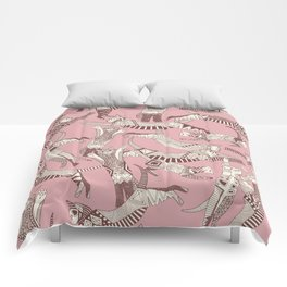 cat party pink Comforters