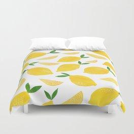 Lemon Cut Out Pattern Duvet Cover