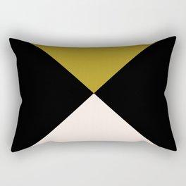 Minimal X Dark Olive Rectangular Pillow