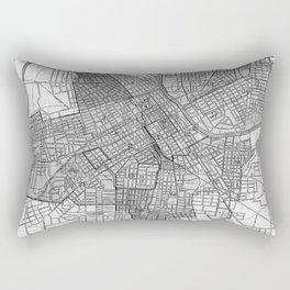 Vintage Map of Nashville Tennessee (1920) BW Rectangular Pillow