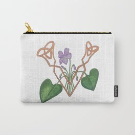 V is for Violet Carry-All Pouch