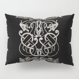 Old norse design - Two Jellinge-style entwined beasts originally carved on a rune stone in Gotland. Pillow Sham