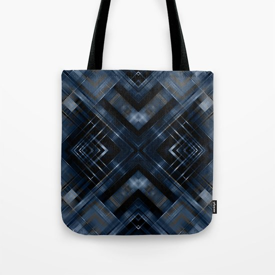 Abstract black blue pattern . Tote Bag