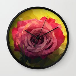 Rose Polygon Art Wall Clock