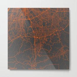 Louisville map 2 Metal Print