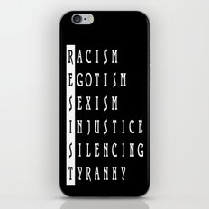 Resist : a political protest iPhone & iPod Skin