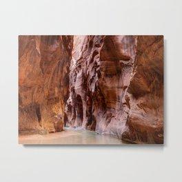 Hike in The Narrows Zion National Park Utah Metal Print