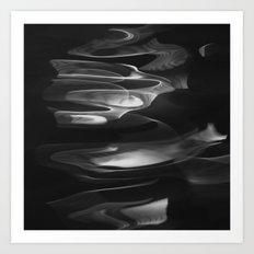 water abstract H2O #62 Art Print