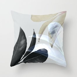 Moody Leaves II Throw Pillow