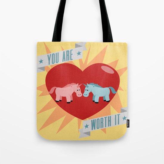 Unicorns are Worth It Tote Bag