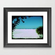 Tropical Beach Scene Photography Framed Art Print