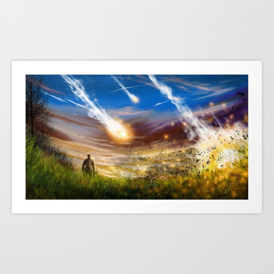 Crashing Down Art Print