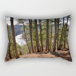 Climbing Up Sparrowhawk Mountain above the Illinois River, No. 7 of 8 Rectangular Pillow